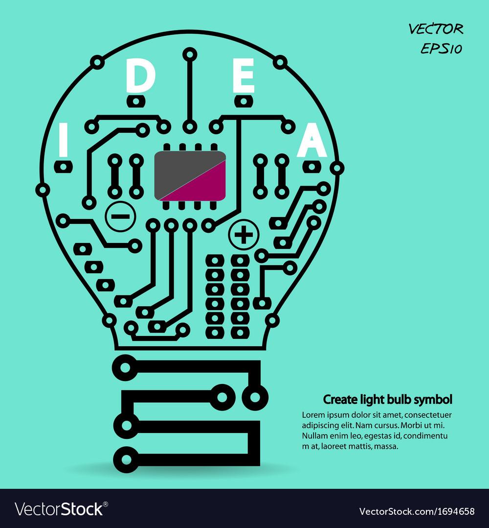 light bulb circuit symbol vector image