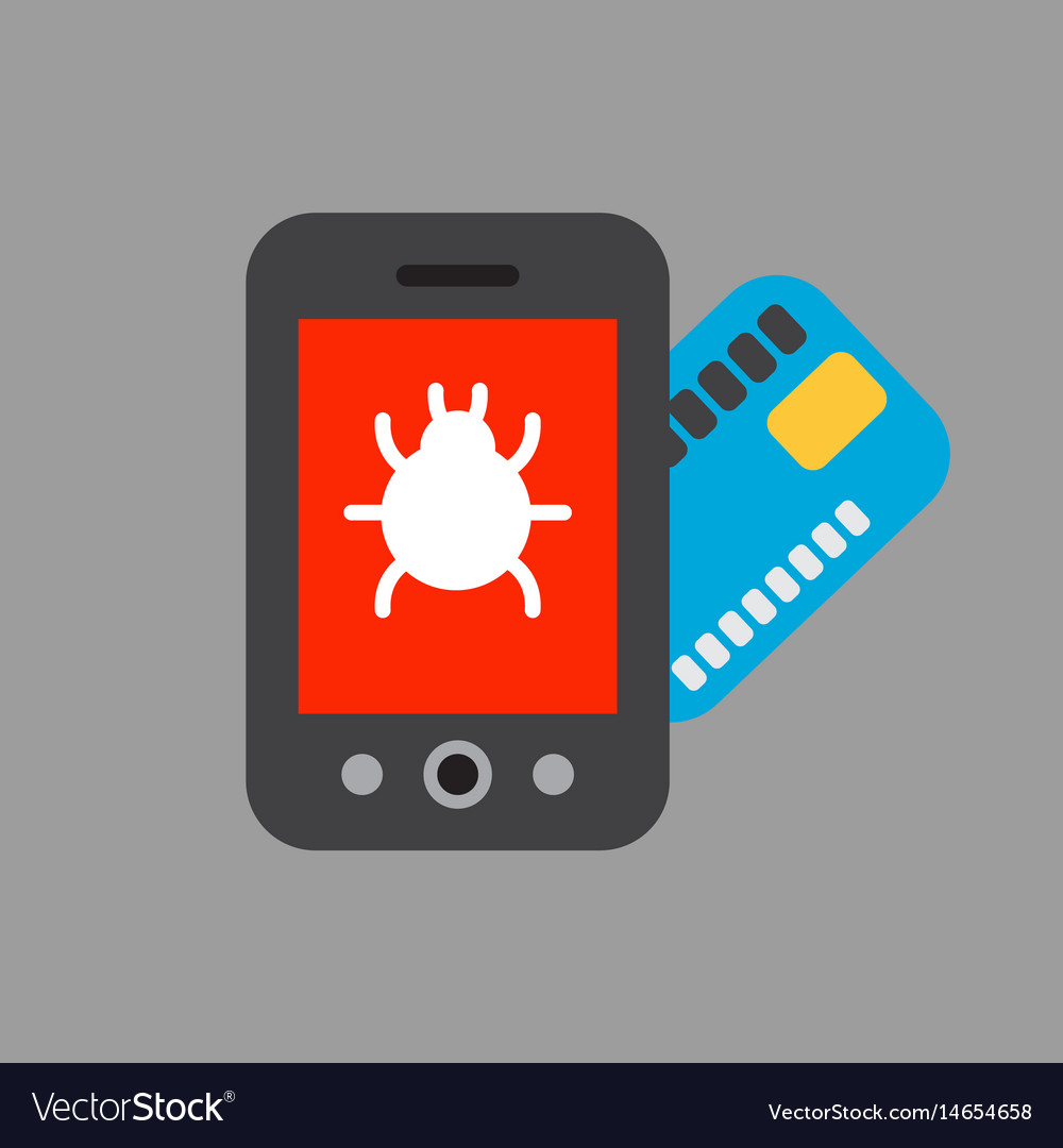 Phone tablet with money card technology vector image
