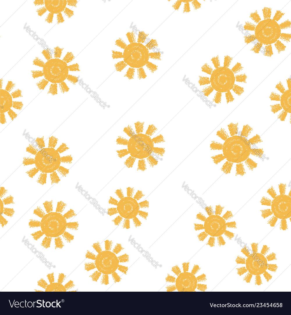 Seamless sun pattern