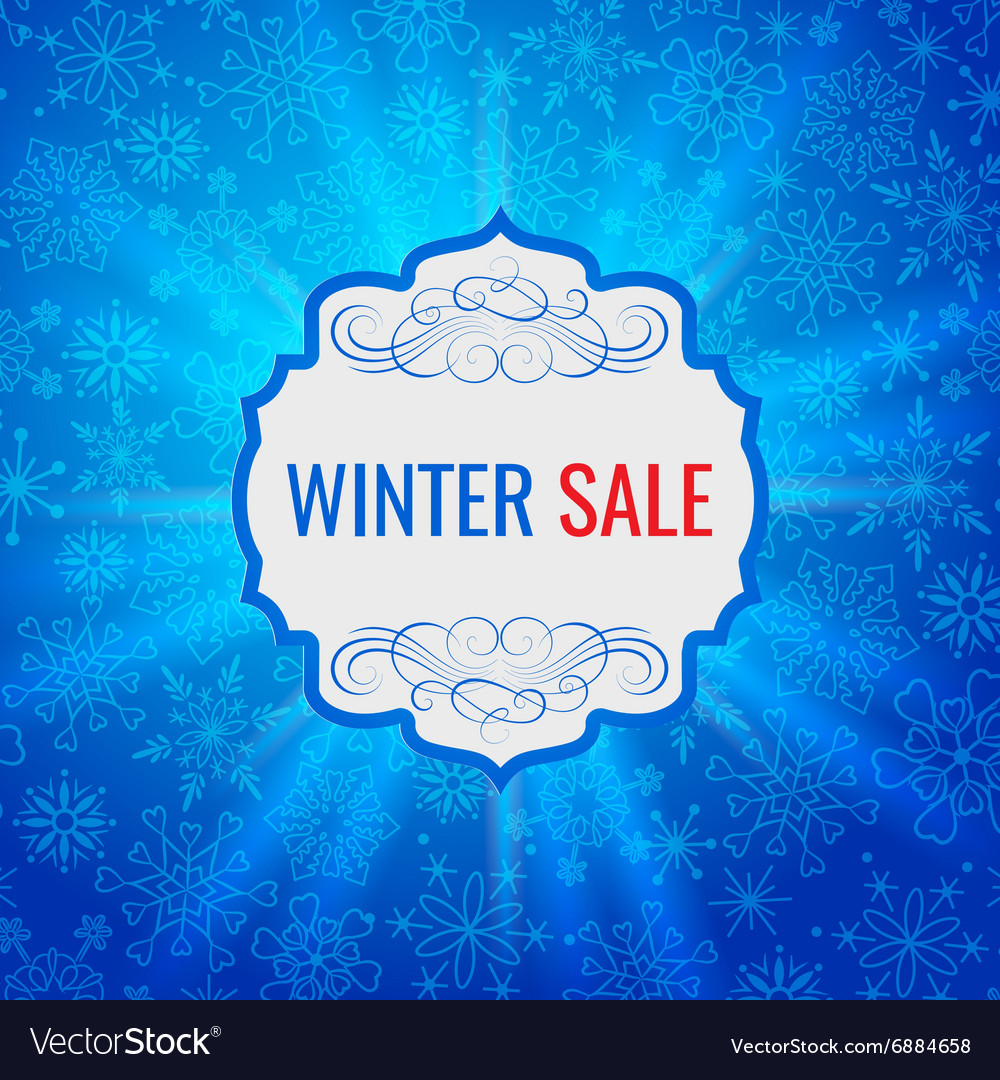 Winter sale poster design template or Background