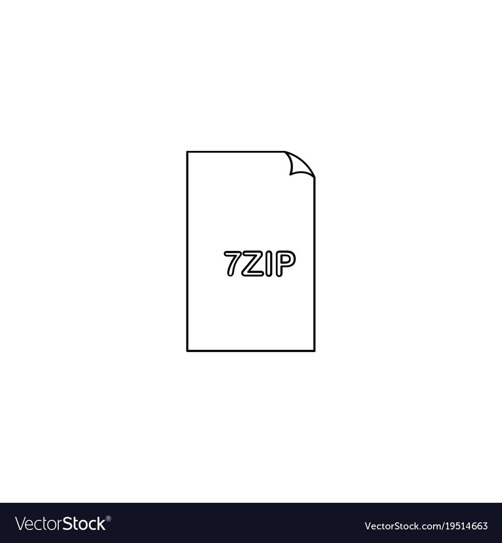 7 zip file icon