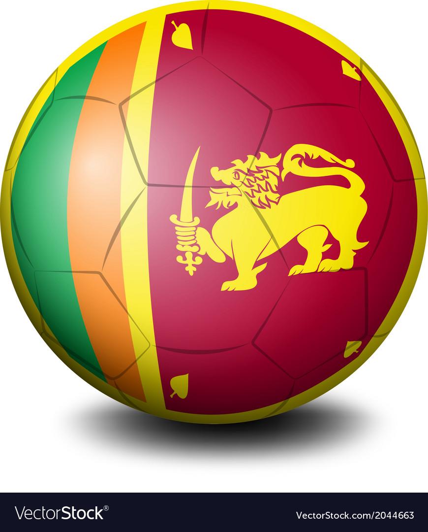 A soccer ball with the flag of Sri Lanka