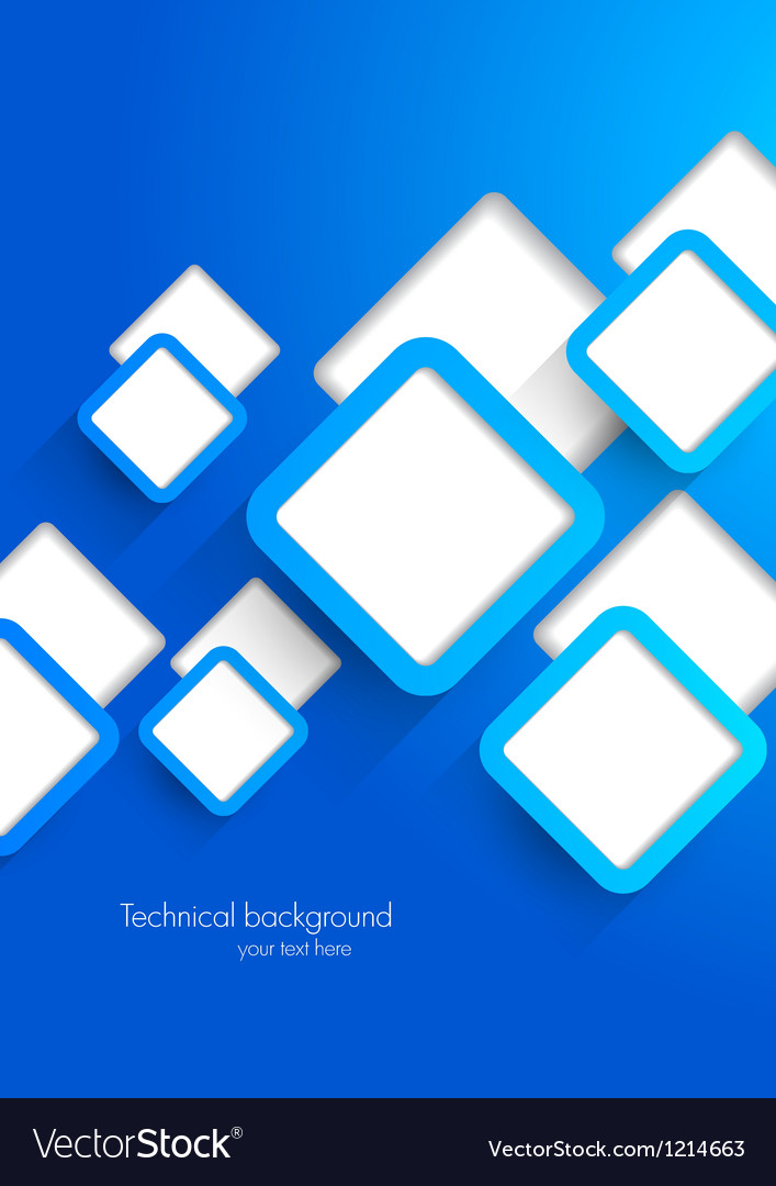 Background with blue squares
