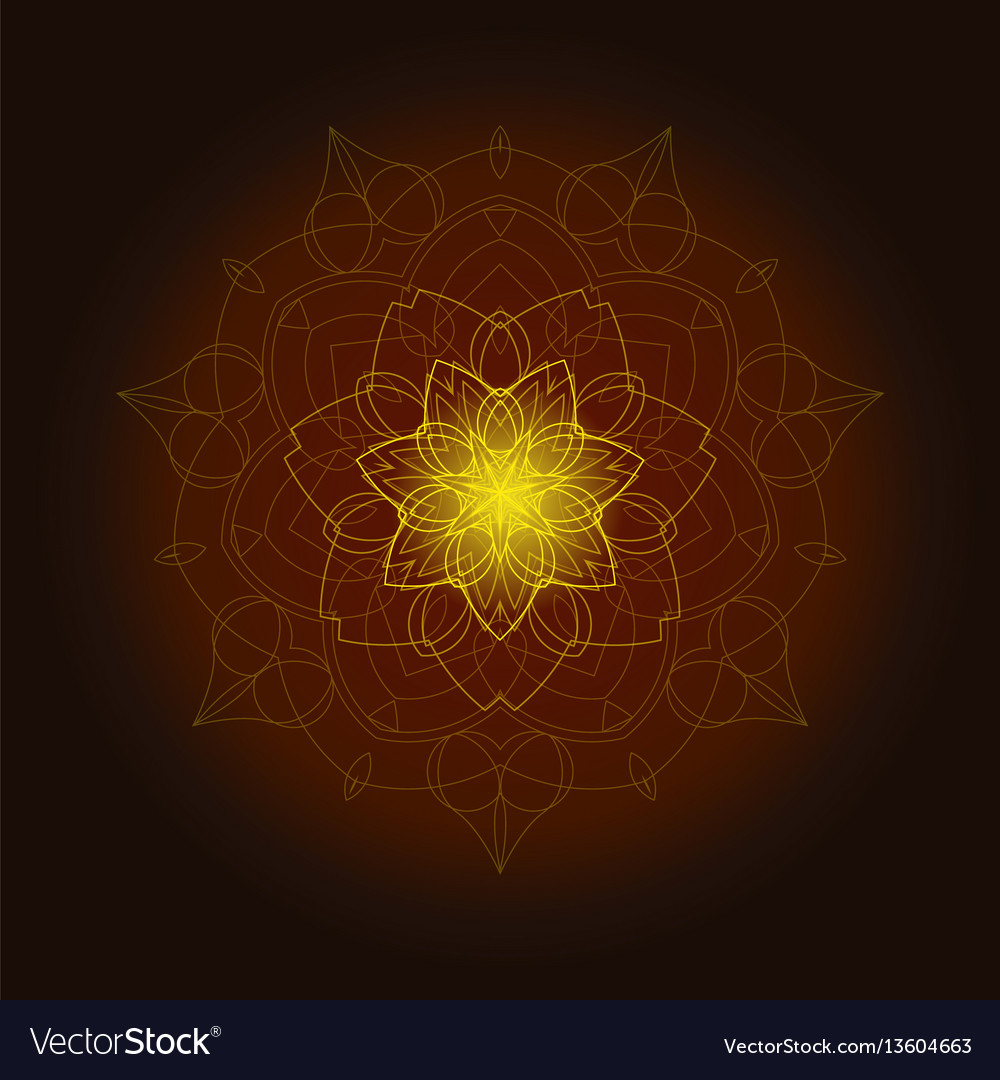 Background with shiny floral mandala