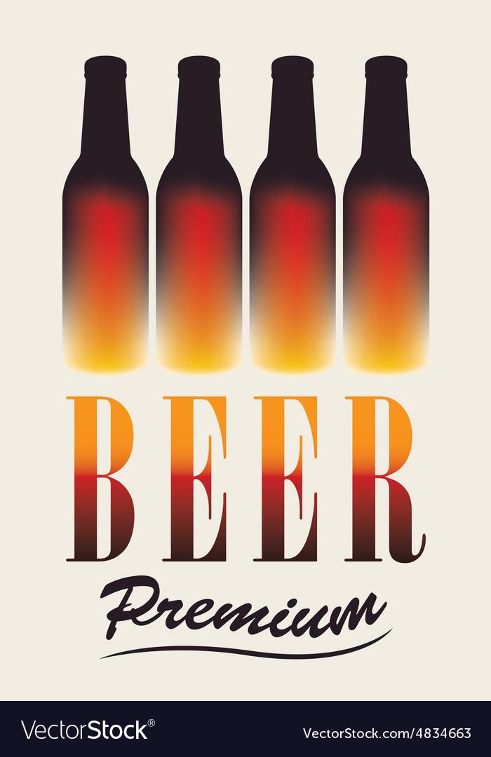 Bottles of beer vector image