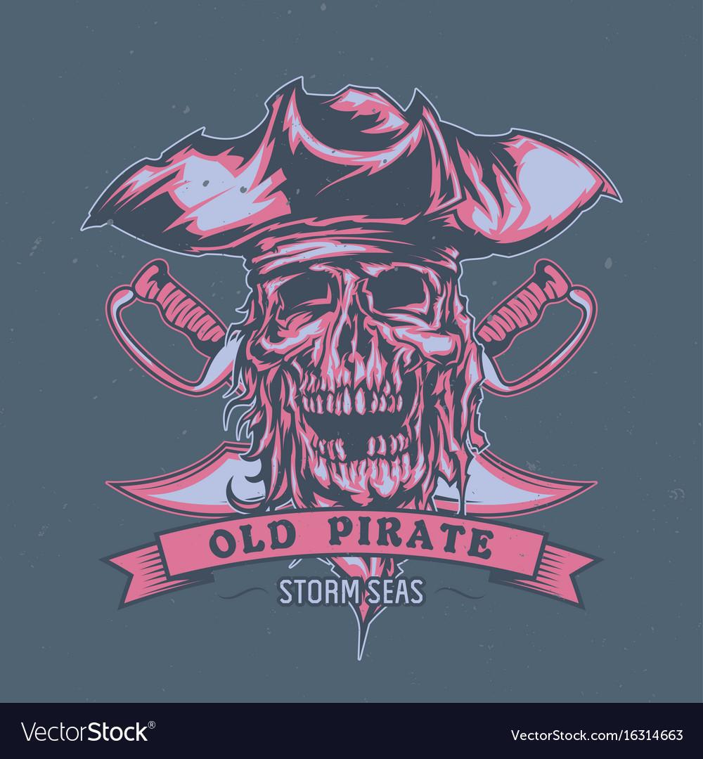 Dead pirate in hat