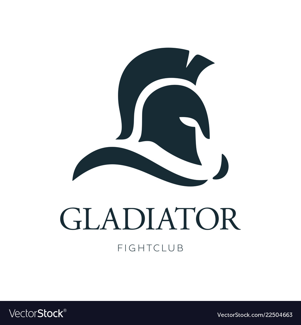 Gladiator head logo design