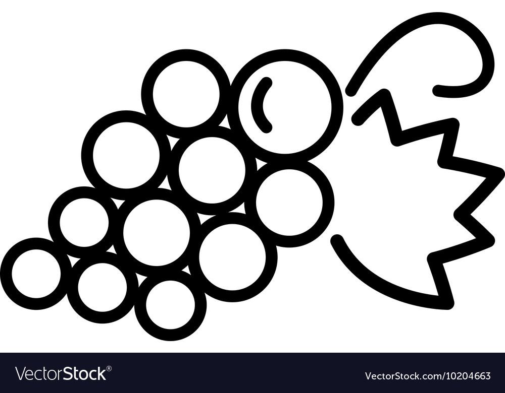 Grapes line icon