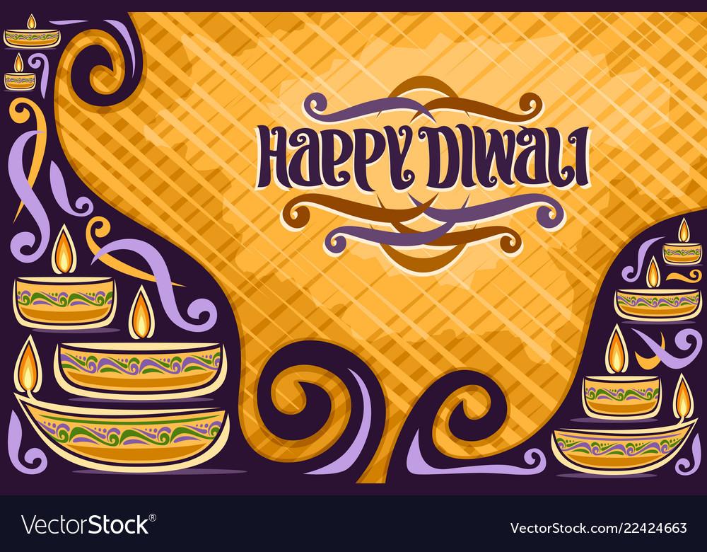 Greeting card for indian diwali