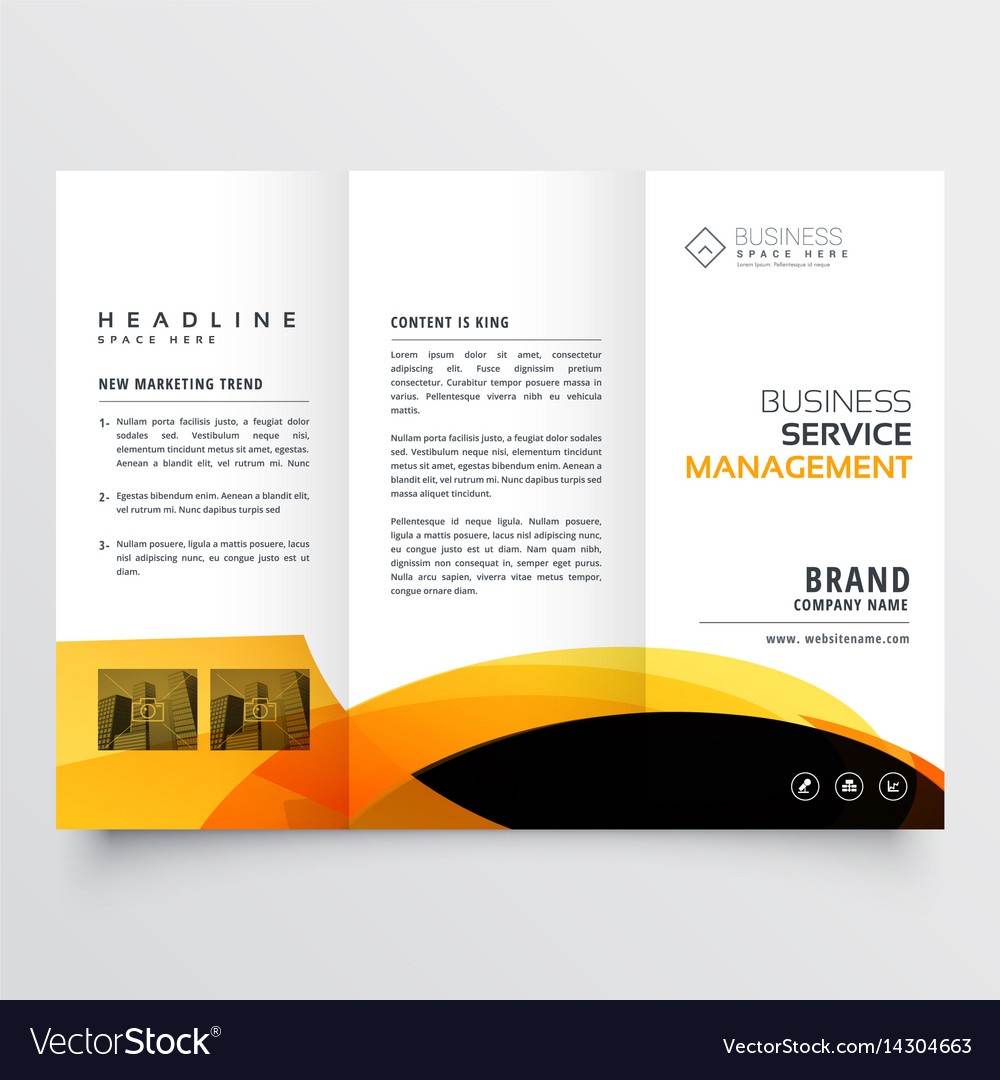 modern tri fold brochure flyer design template vector image