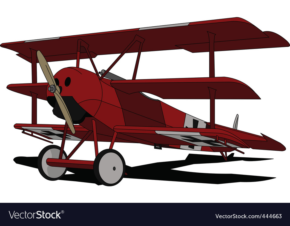 Red baron vector image