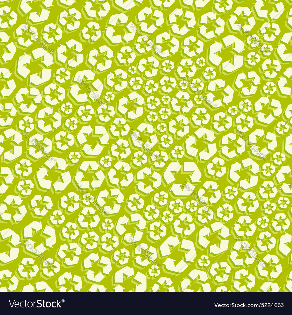 Seamless recycle background pattern vector image