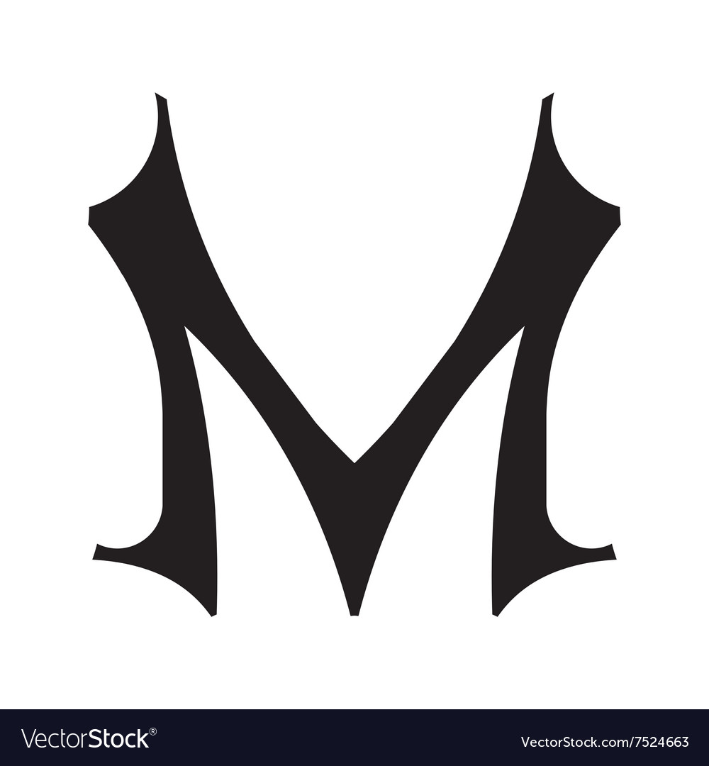 The Vintage Style Letter M Royalty Free Vector Image
