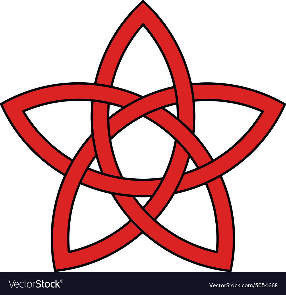 5 Point Celtic Star Knot Royalty Free Vector Image