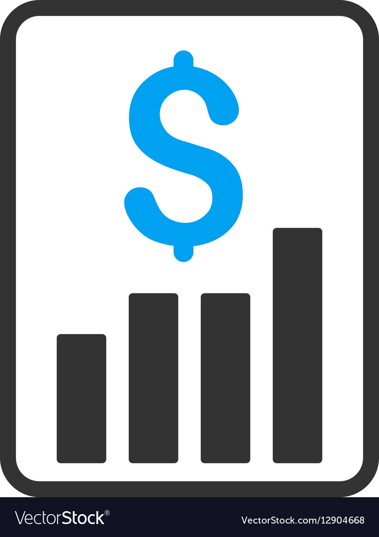 financial report flat icon royalty free vector image