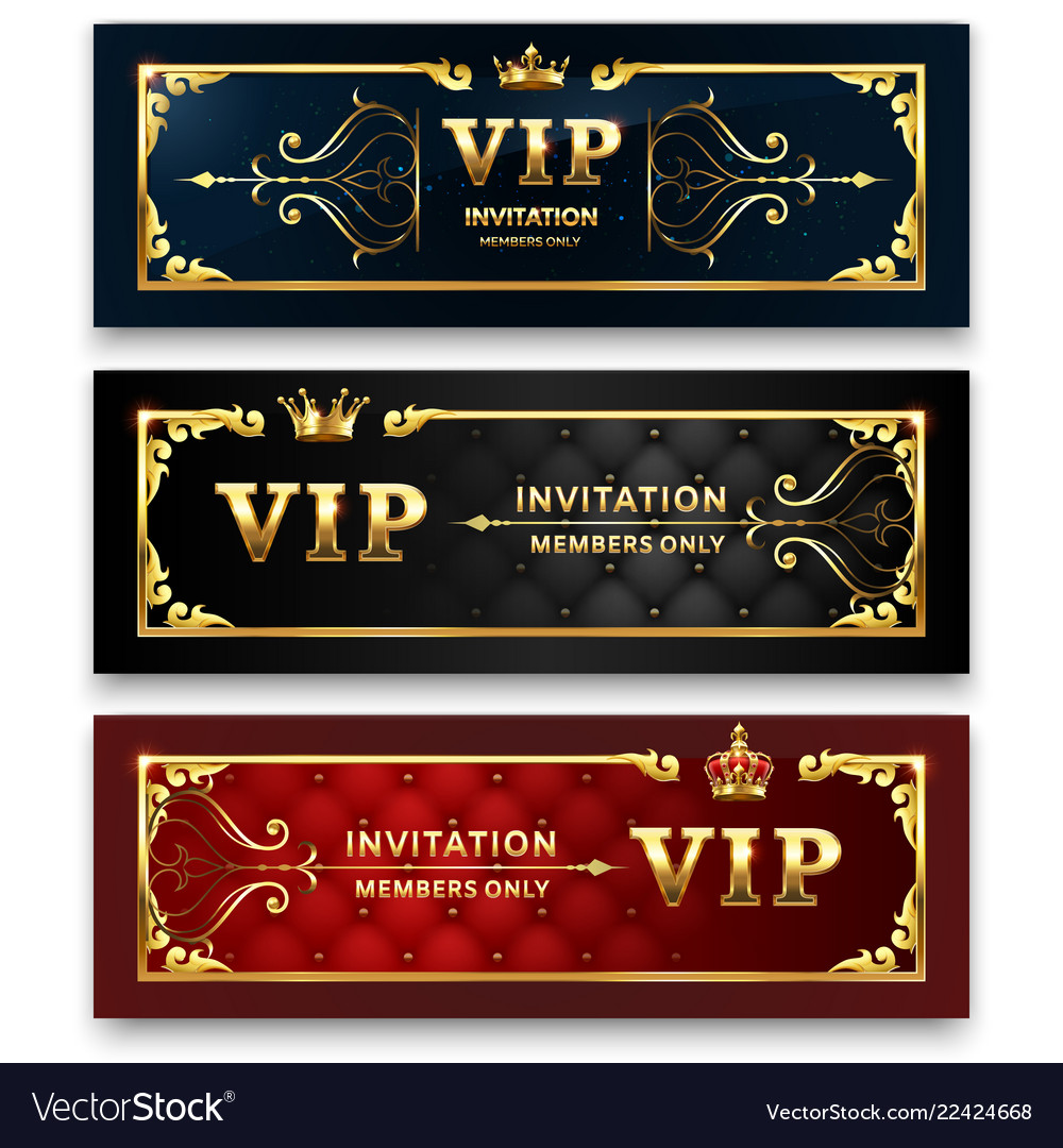 Golden banner gold royal crown luxury exclusive