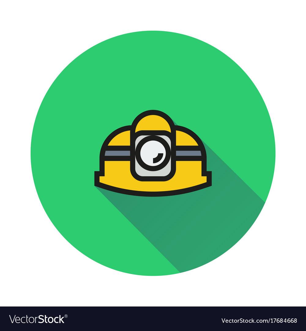 Helmet icon on round background
