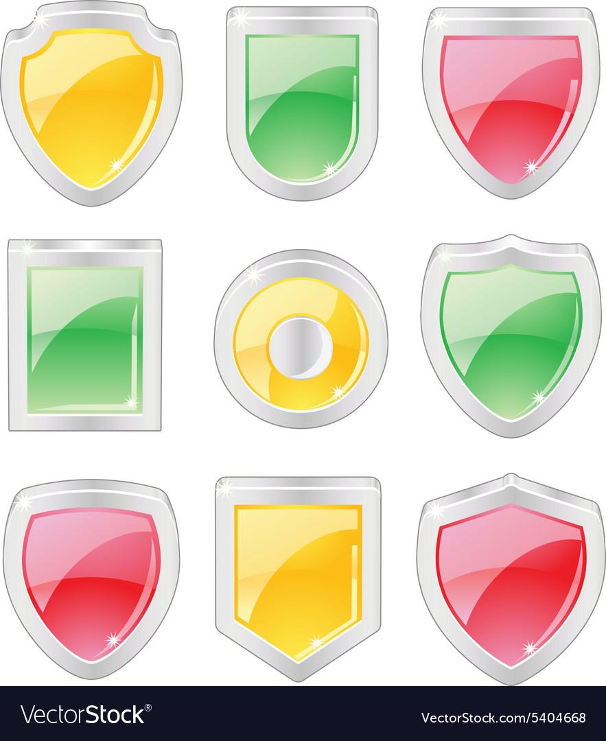 Set of 3 dimensional shields