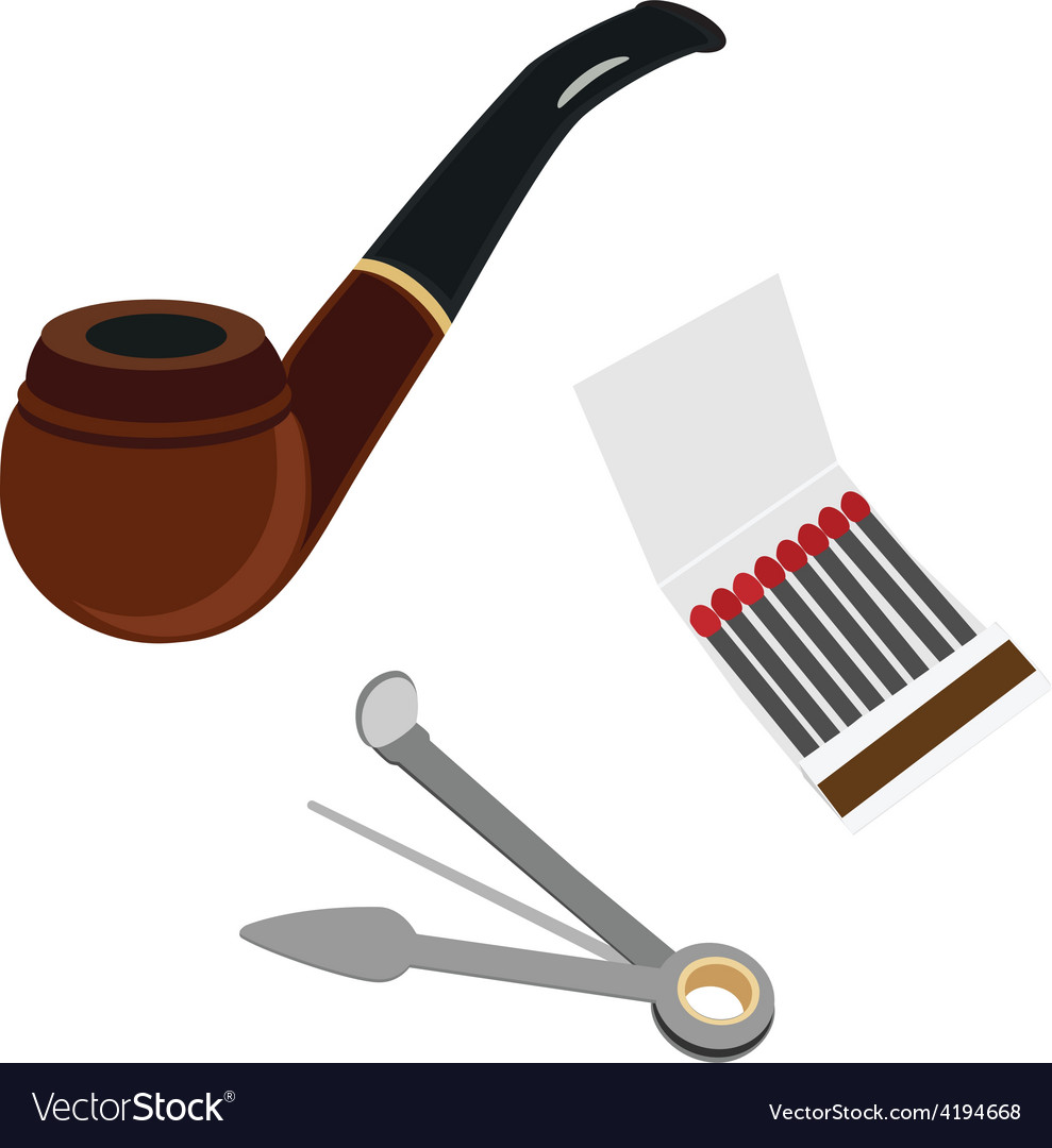 Smoking pipe cleaning tool and matchsticks