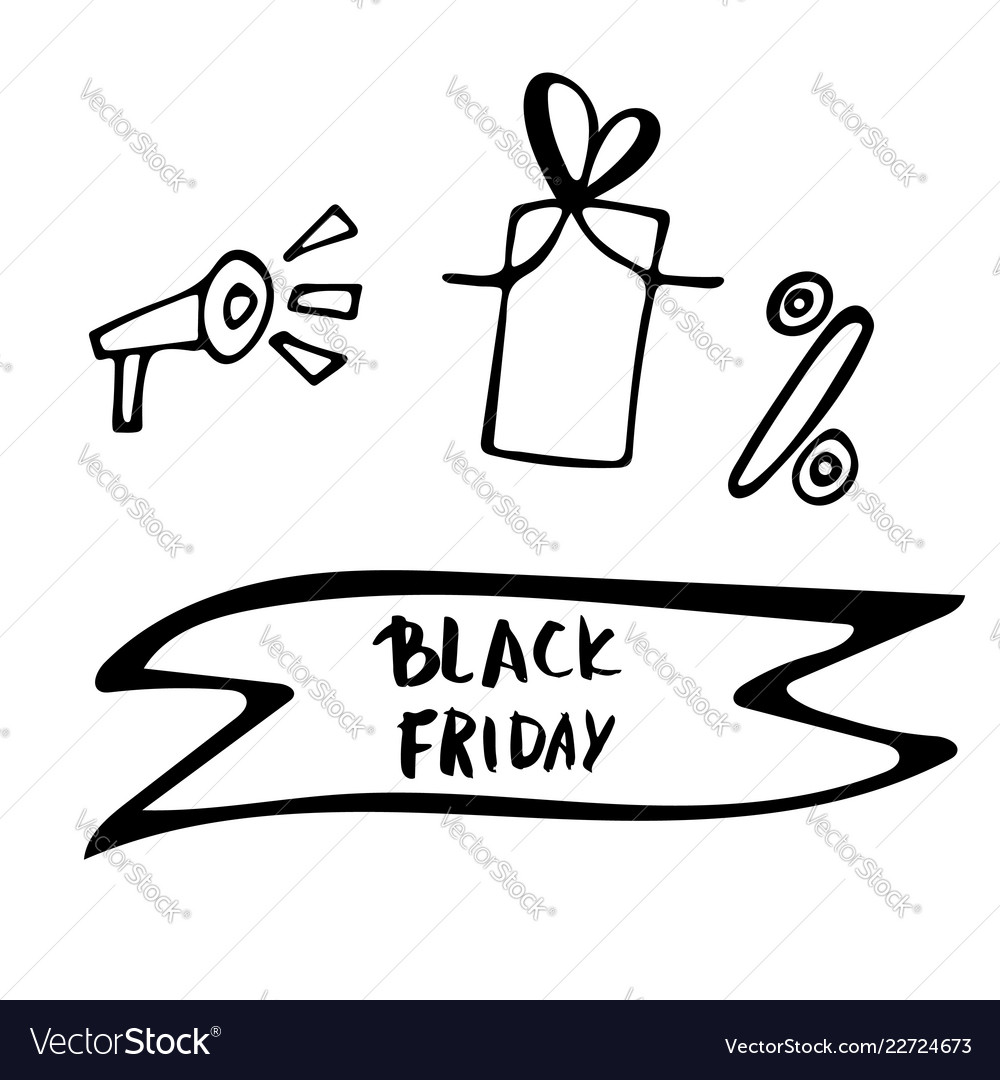 Black friday text with decoration