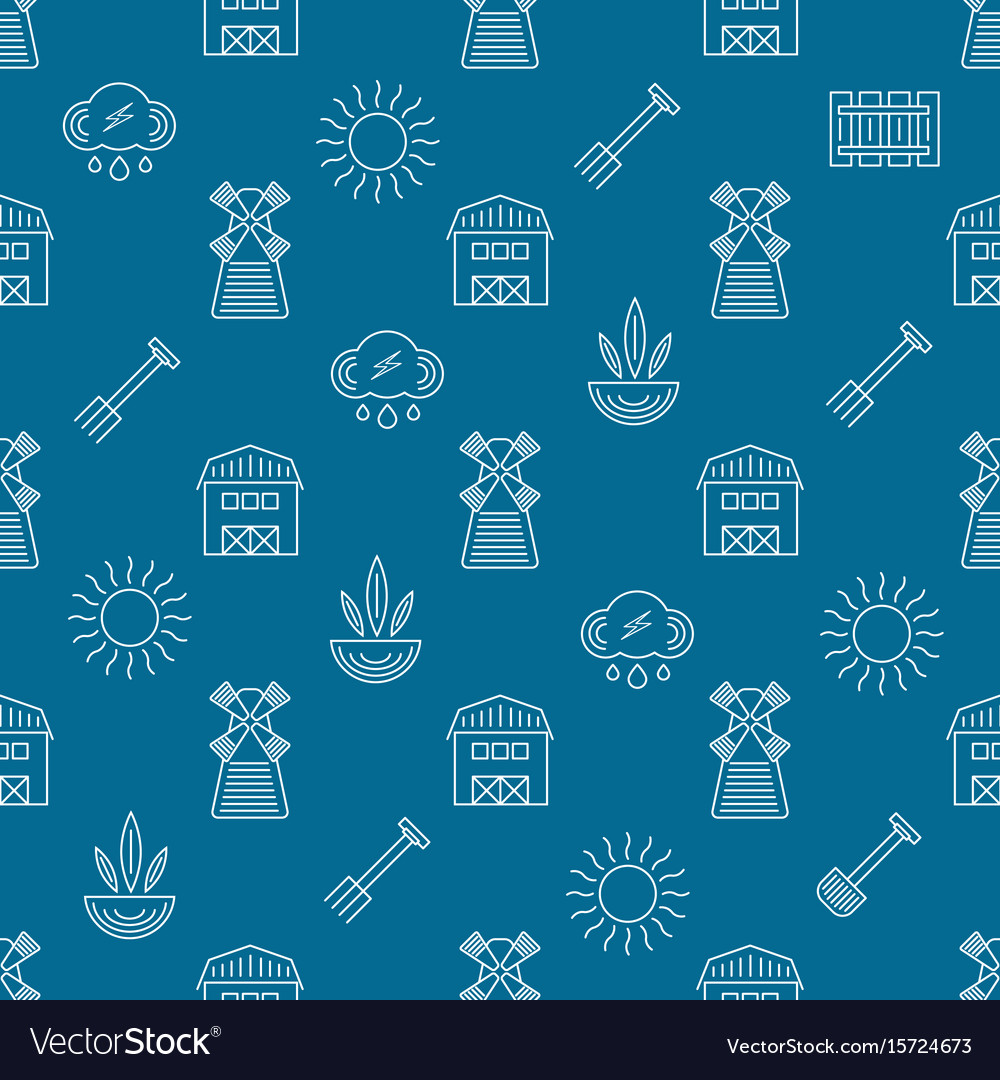 Farm seamless pattern vector image