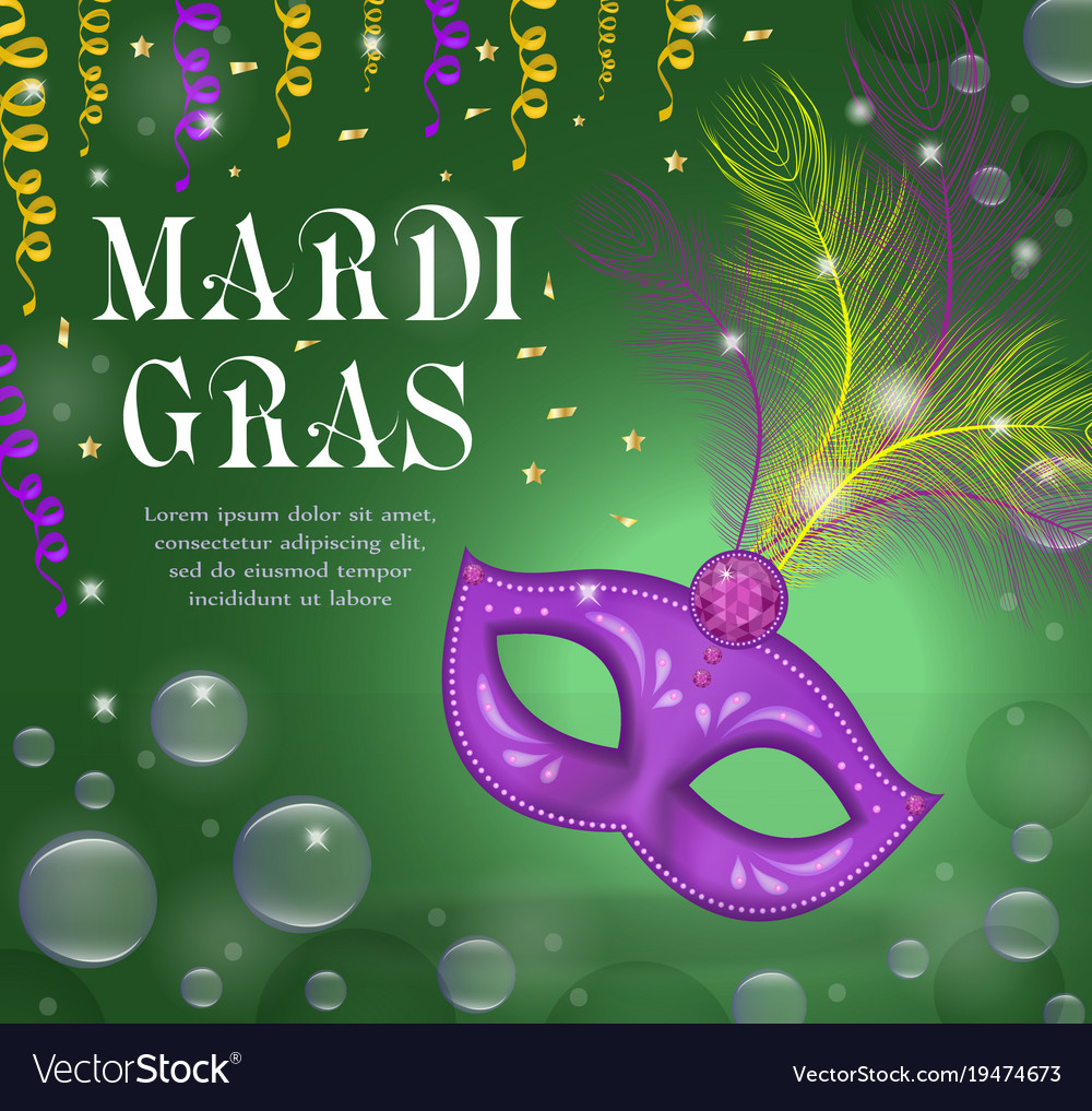 Mardi gras carnival poster invitation greeting