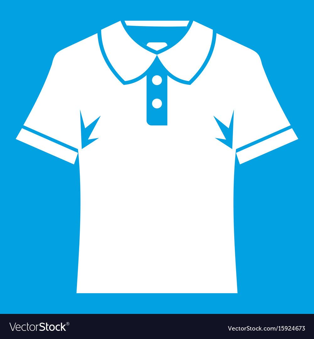 Men polo shirt icon white vector image
