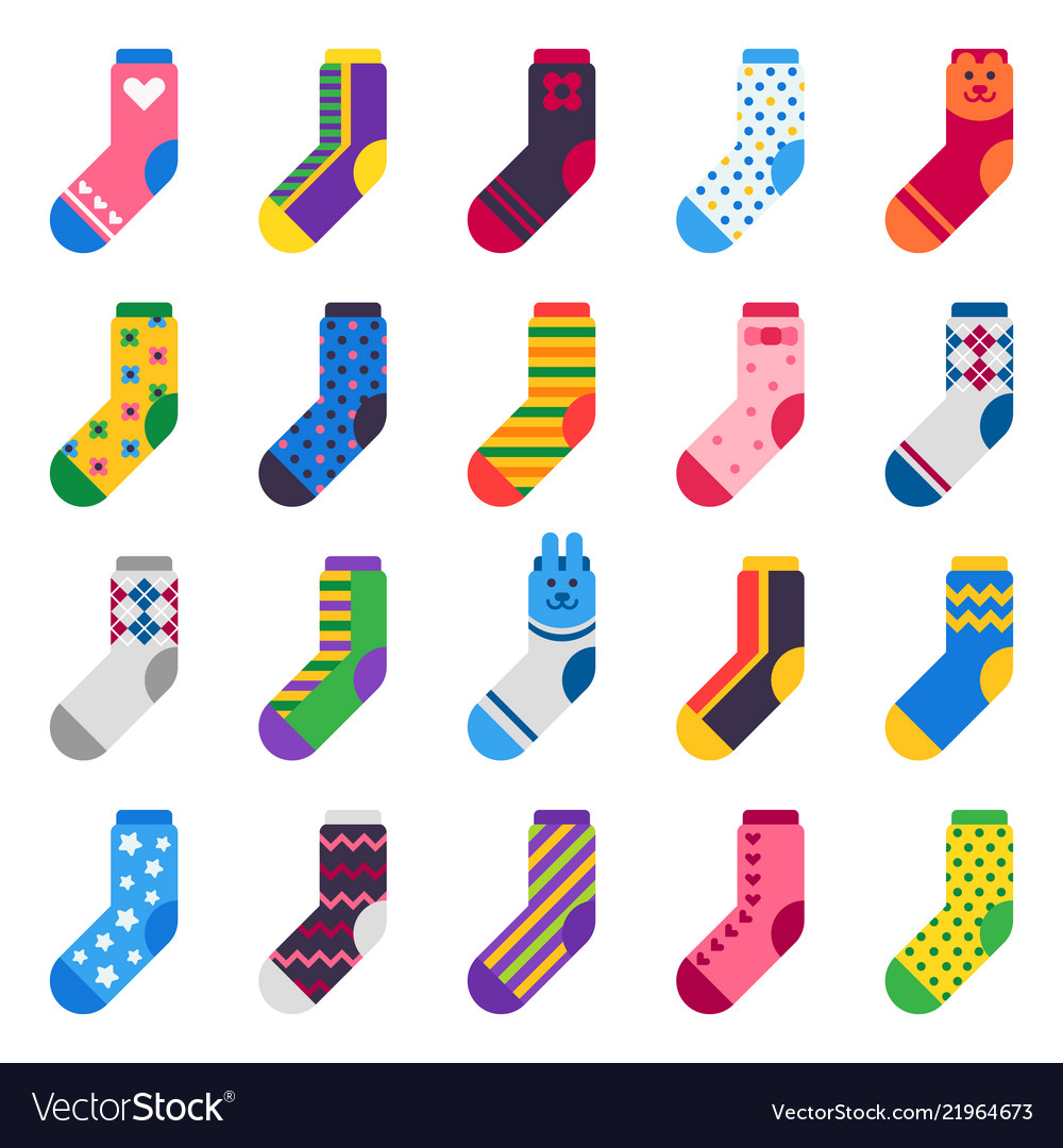 Sock icon sport long socks kids feet clothes and
