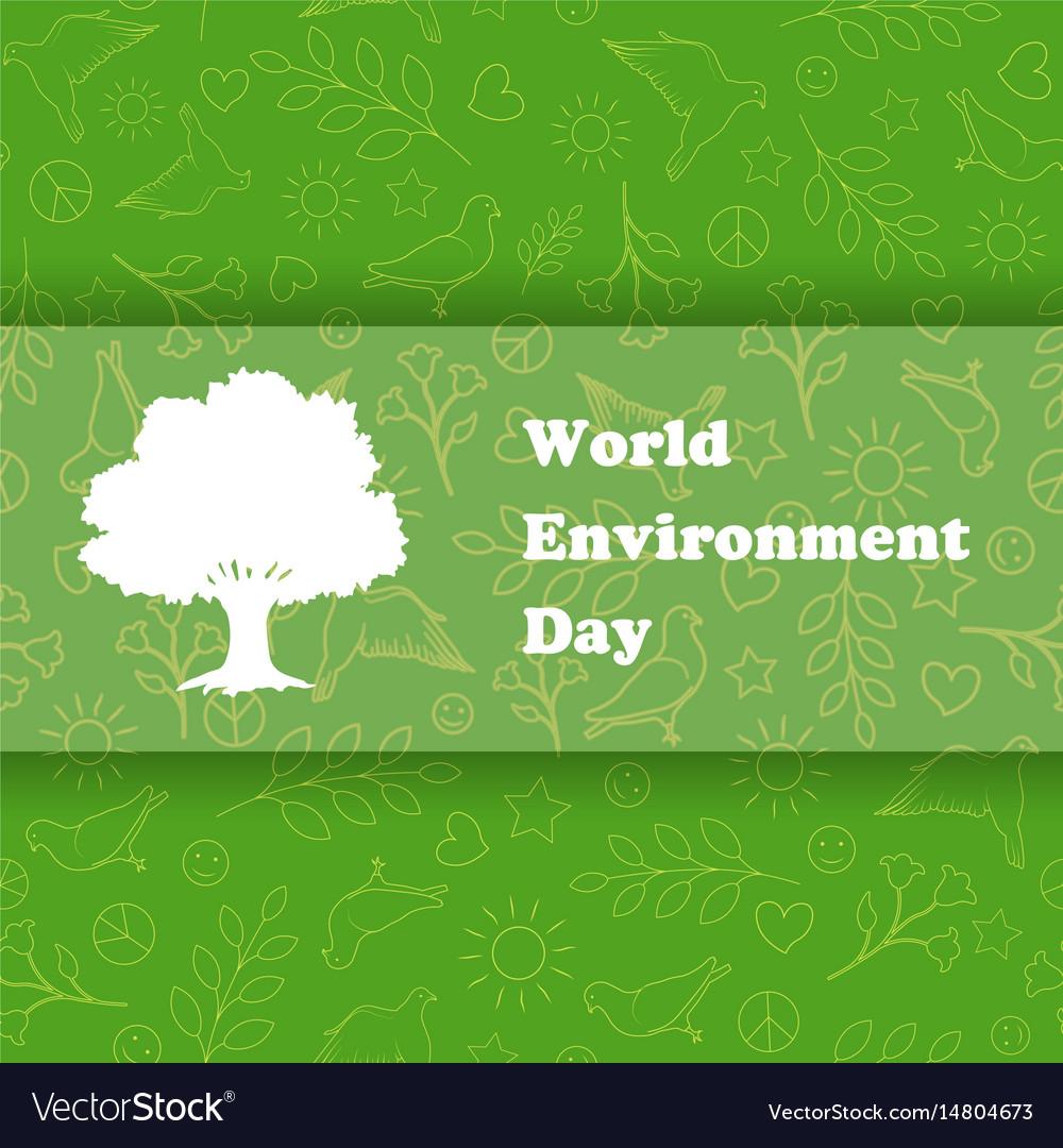 World environment day ecology background