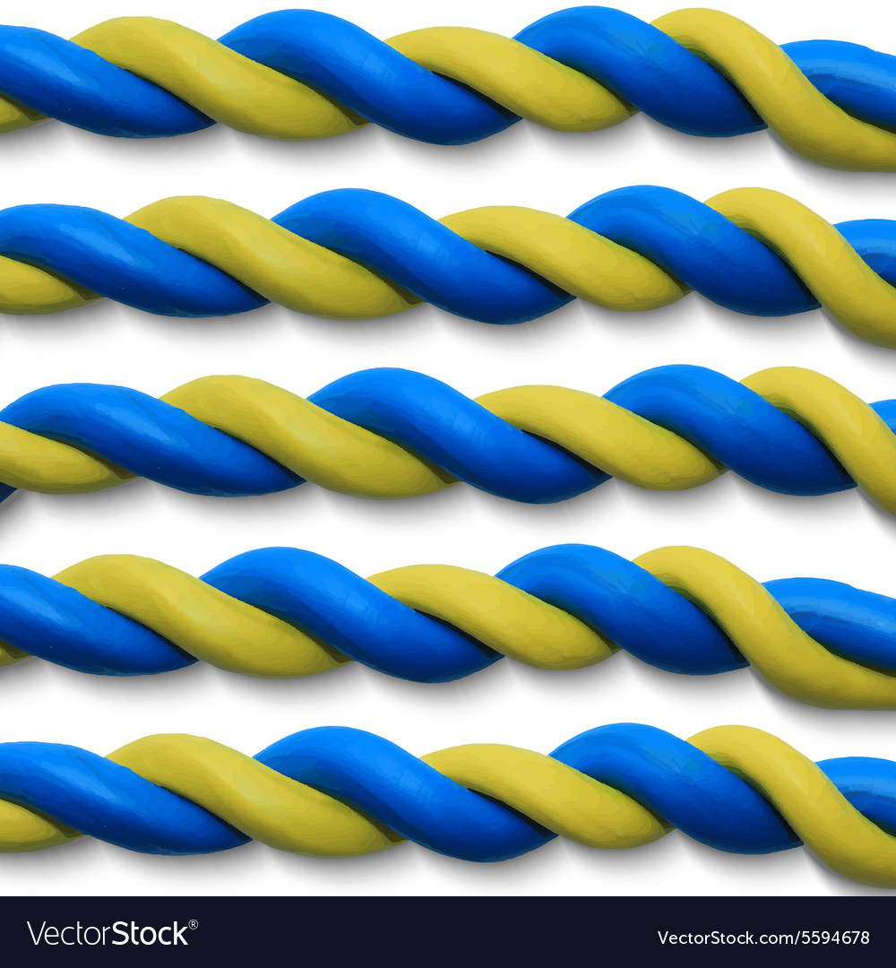 Blue yellow ropes