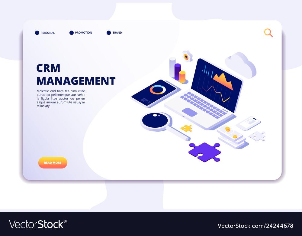 Crm concept customer relationship management vector image