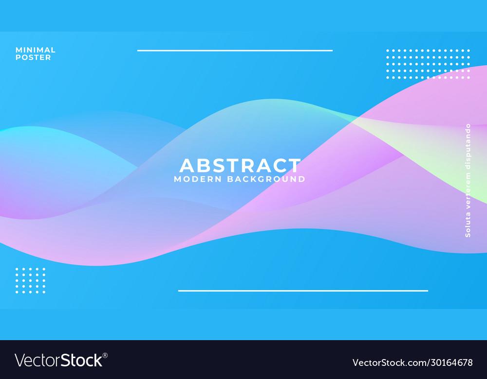 Dynamic blue vibrant wave background