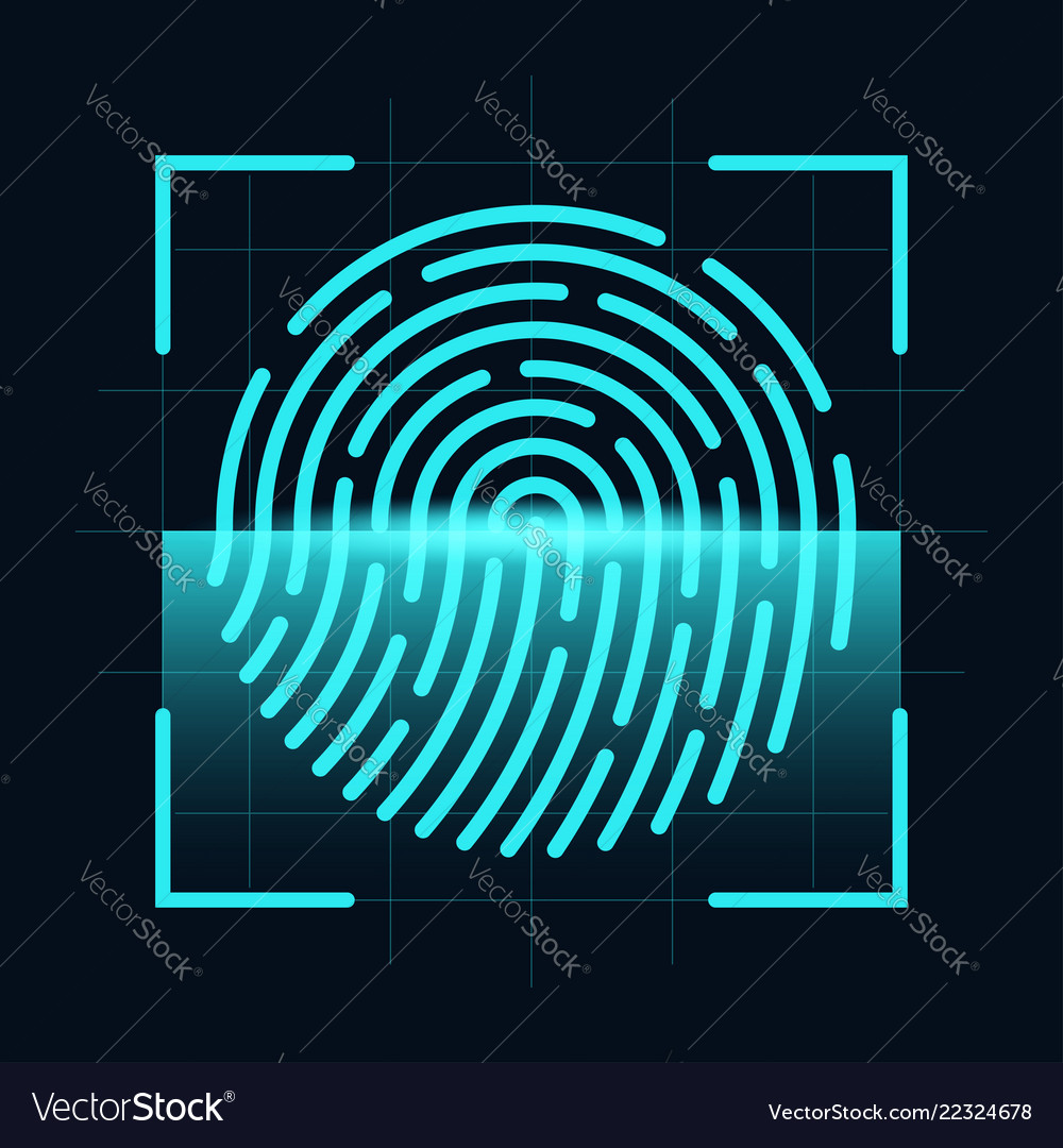 Fingerprint scanner concept digital and cyber
