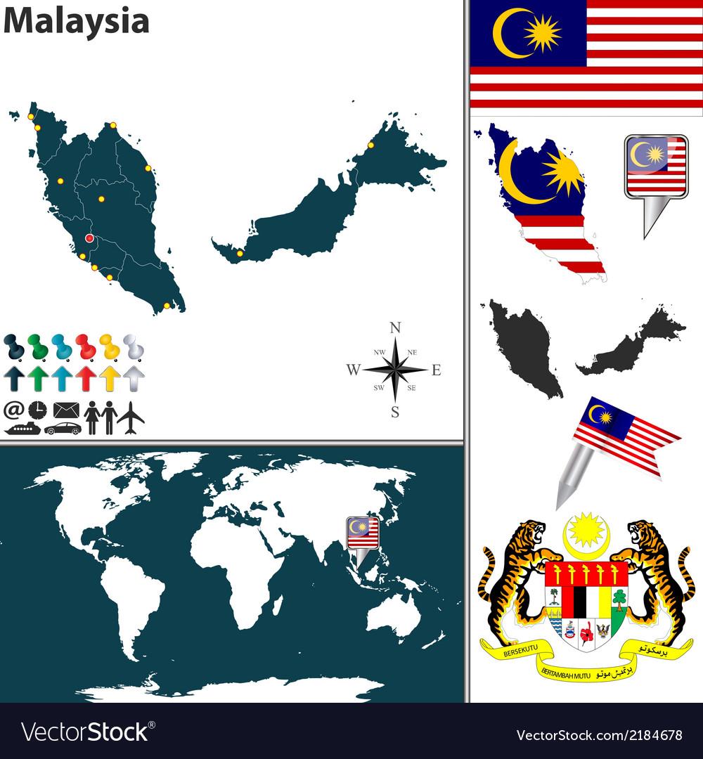 Malaysia map world small