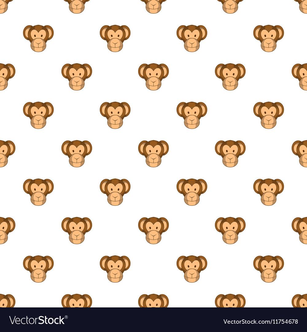 Monkey face pattern cartoon style