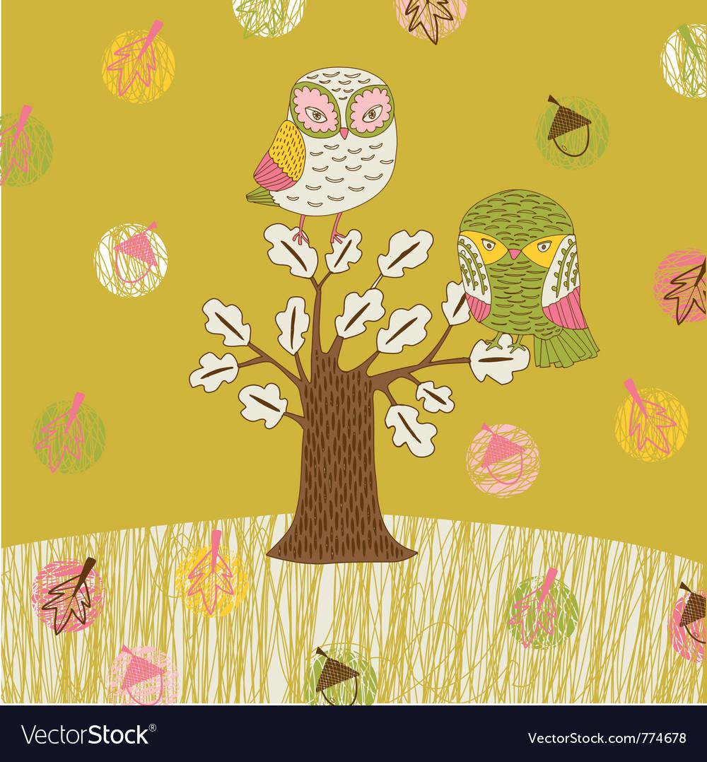 Seasonal owl tree