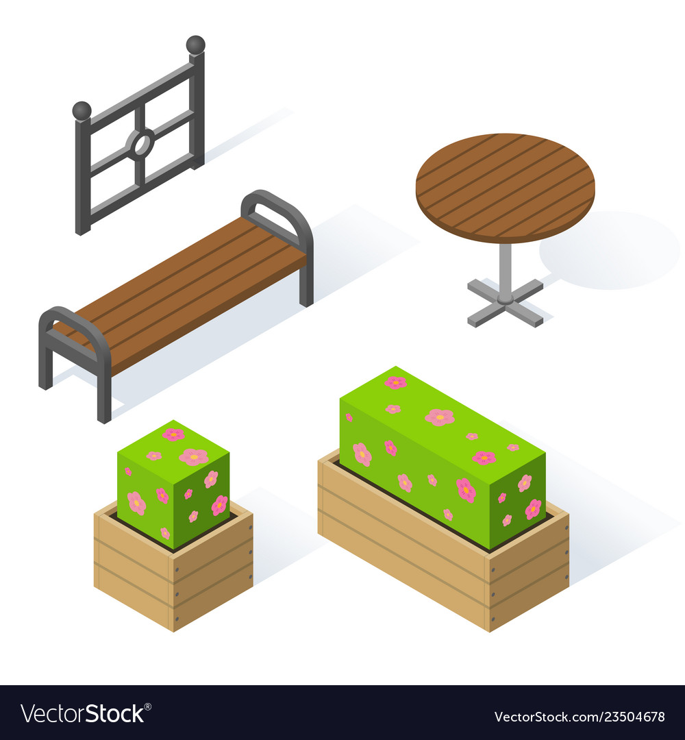 Set of decorative objects for the design of the