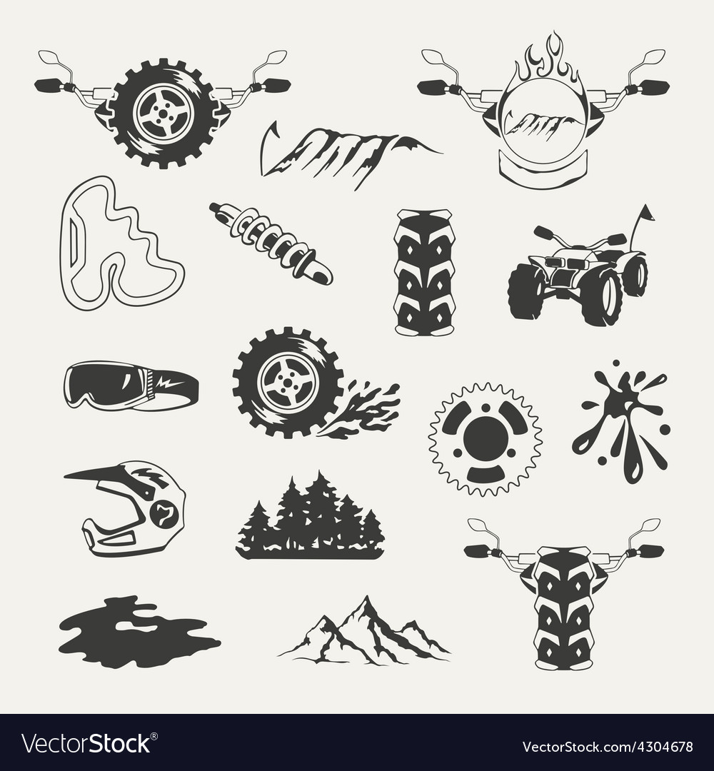 Set of extreme sports emblems badges labels and