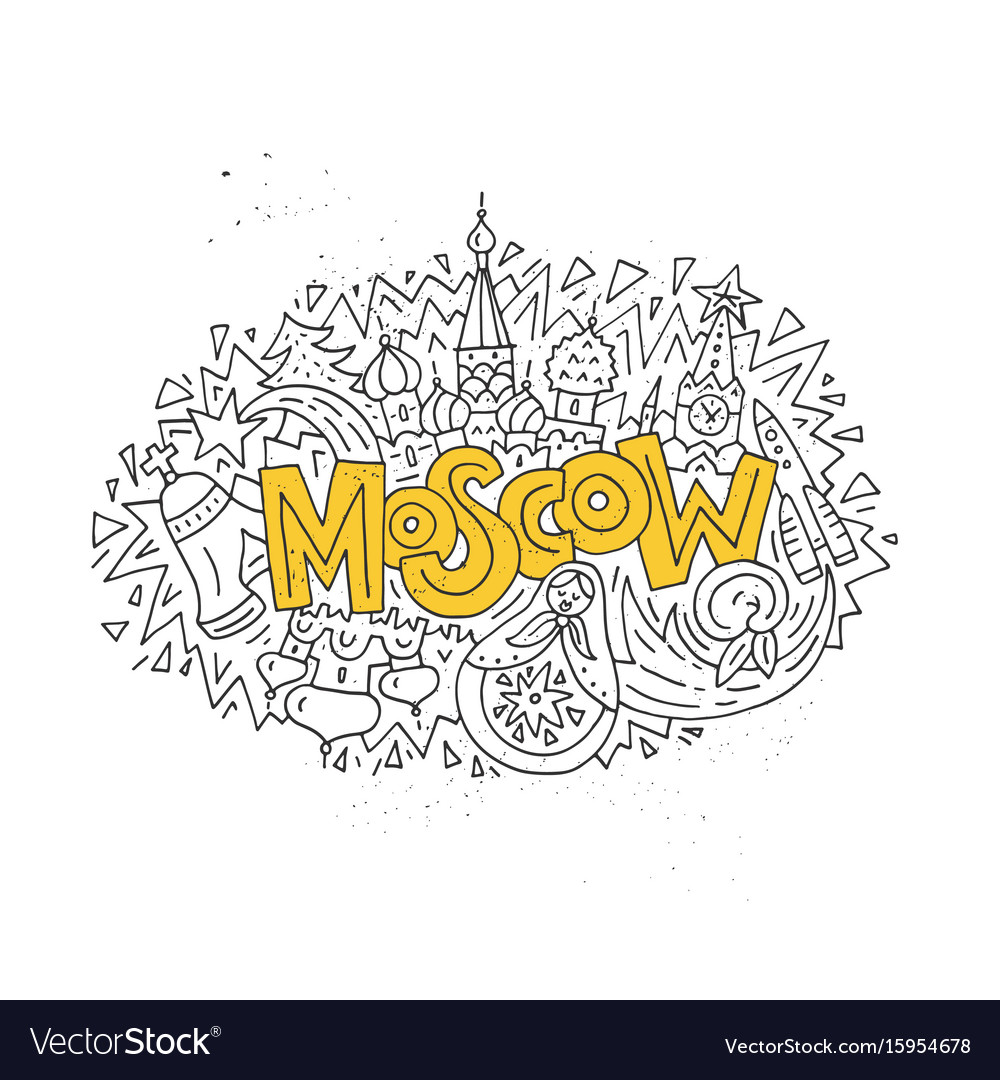 Travel to moscow concept