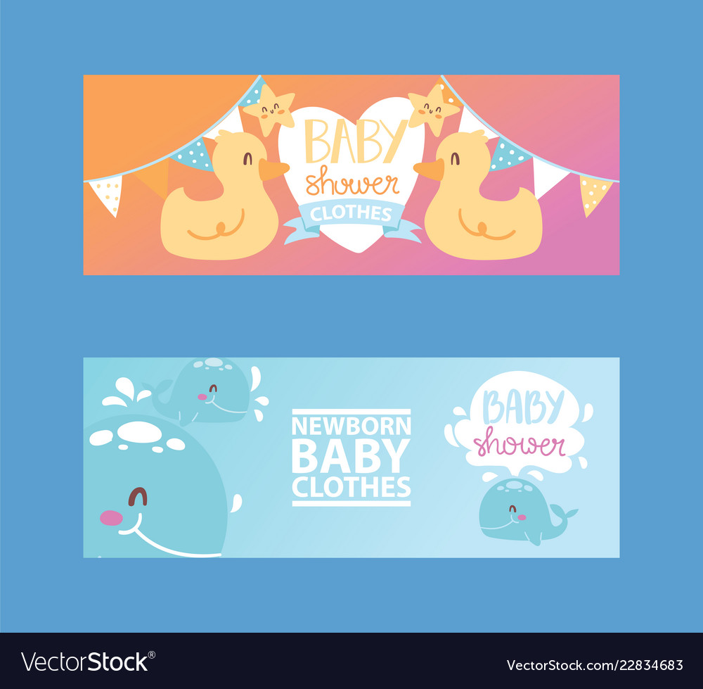 Baby shower girl and boy clothes