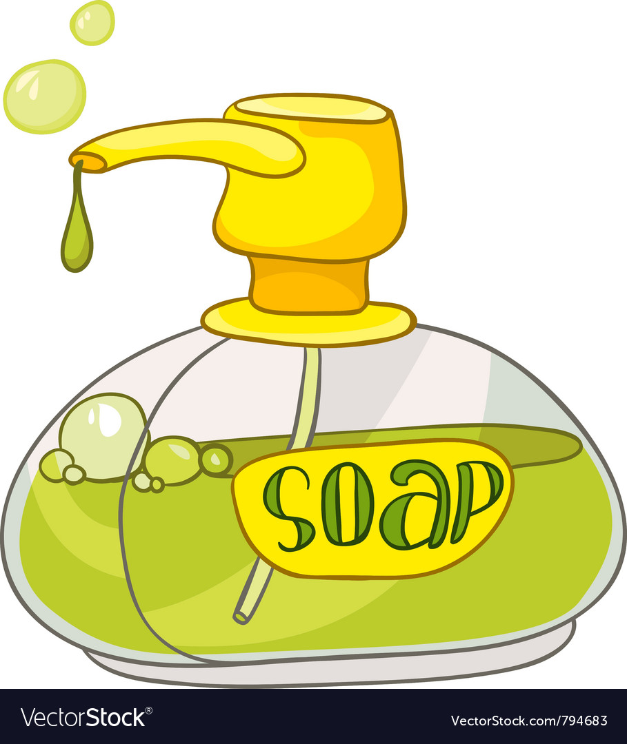 Cartoon home washroom soap vector image