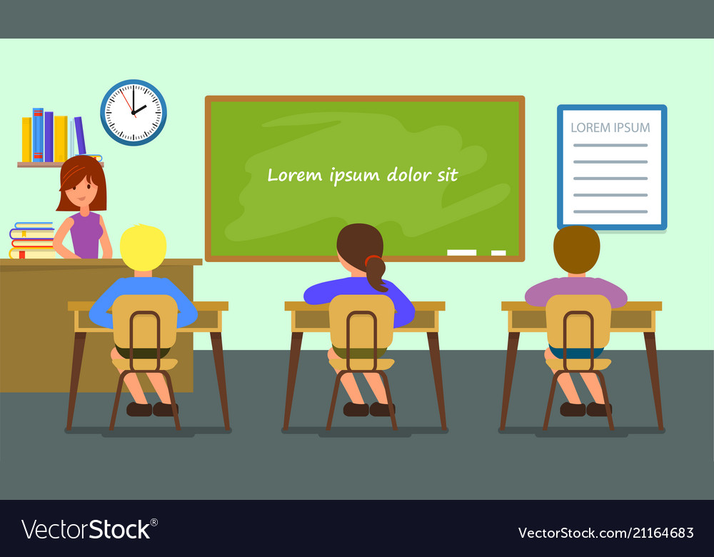 Classroom lesson background flat style