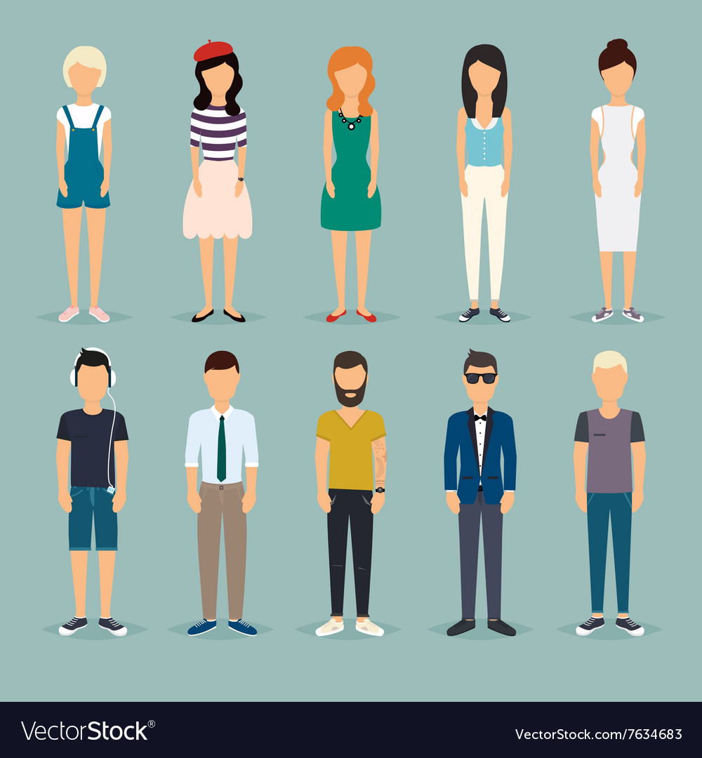 Group cartoon people Social Network and Social