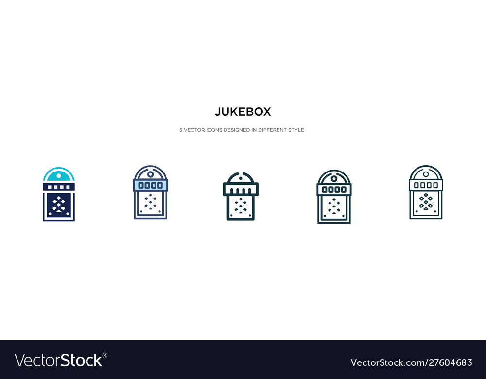 Jukebox icon in different style two colored
