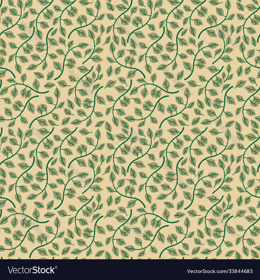 Seamless pattern with leaves background