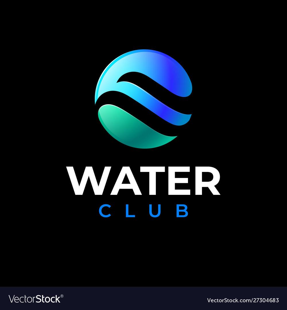 Water club logo swimming sail sport logo pool