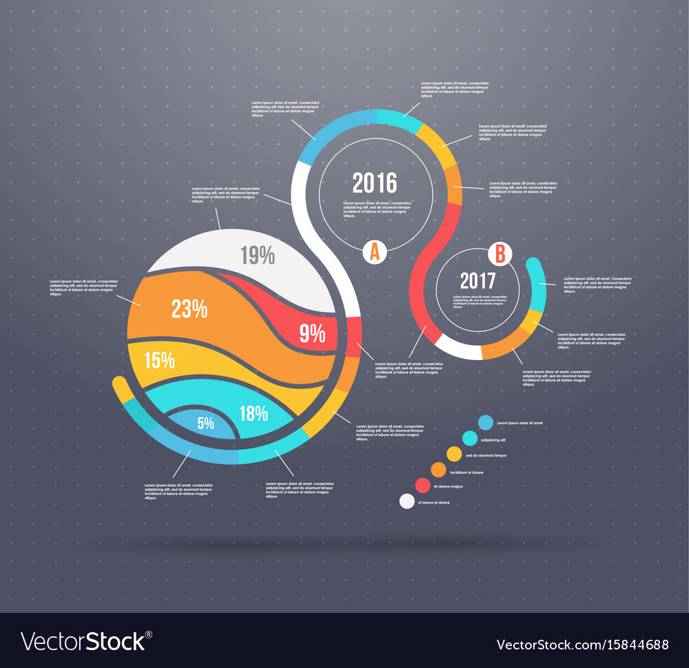 Business template conceptual chains with vector image