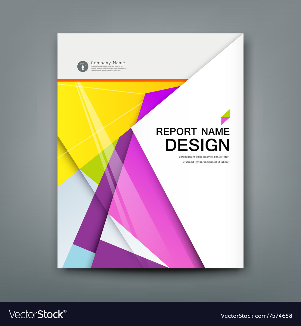 Cover Annual Report Abstract material geometric