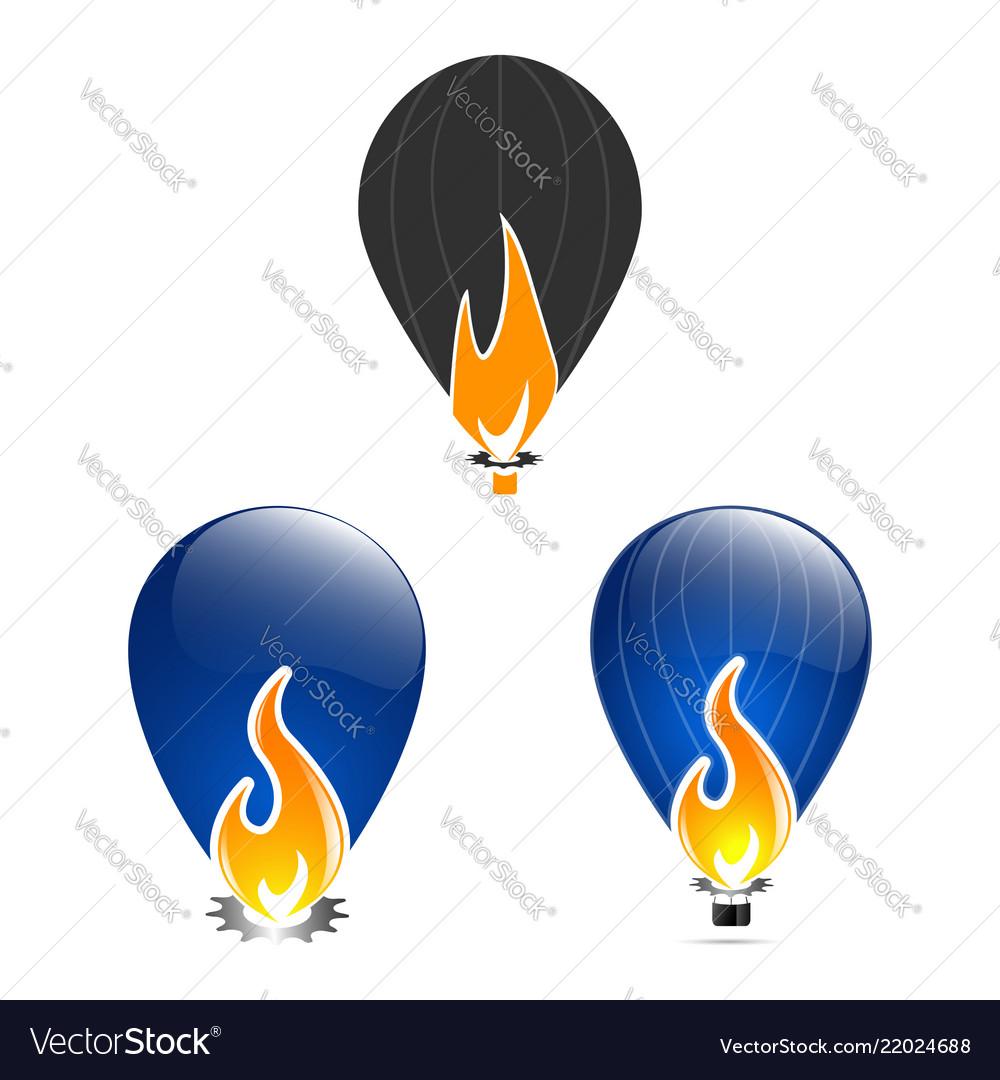 Fire flame design template