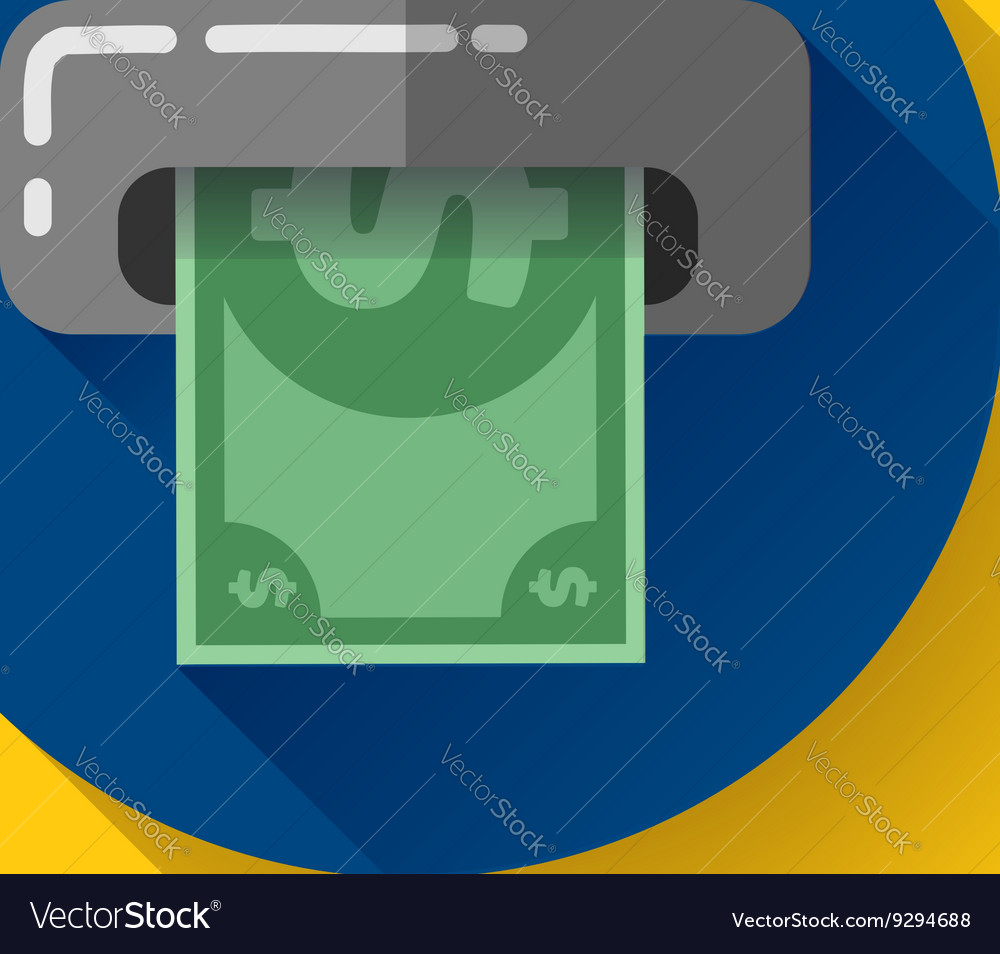 Getting money from an ATM bankomat card symbol